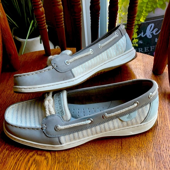 Sperry Topsiders sparkly ropes boat shoes